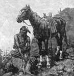 North American Indians: A Typical Cayuse and his Mount