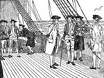 Pictures of Benjamin Franklin: Franklin On his Way to France