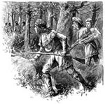 Pictures of Daniel Boone: Boone Trailing Indians
