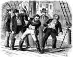 Pictures of the Underground Railroad: The mayor and police of Norfolk searching Captain Fountain's schooner