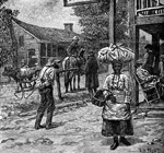 Scene in a southern slave town