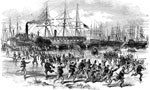 Port Royal: Landing of the U. S. Troops at Fort Walker after the Bombardment, Nov. 7, 1861