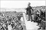 President Abraham Lincoln: Lincoln making his famous speech at Gettysburg