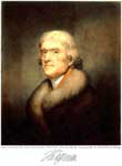 President Jefferson: Portrait by Rembrandt Peale, 1805