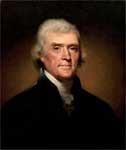 President Jefferson: Portrait by Rembrandt Peal, 1800