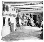 Pueblo Indians: Interior of a Pueblo Apartment
