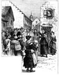 Quakers: A Quaker Woman Preaching in New Amsterdam