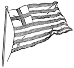 Revolutionary War Flags: Flag of East India Company