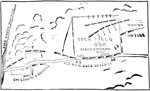 Shiloh Battle Maps: Plan of Defense at the Peach Orchard, Left Wing
