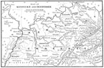 Shiloh Battle Maps: Map of Kentucky and Tennessee Including Field of Operation in the Shiloh Campaign