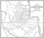 Shiloh Battle Maps: Map Used by the Confederate Generals at Shiloh