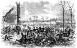Shiloh Battle: Capture of mcClernand's Headquarters, McAllisters and Schwartz's Artillery, and Dresser's Battery by the Confederates at Pittsburg Landing, April 6
