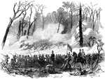 Shiloh Battle: 44th Regiment Indiana Volunteers Engaged at Pittsubrg Landing, April 6, 1862 - The Woods on Fire