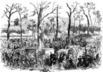 Shiloh Battle: The Final Stand of the Army of Gen. Grant, April 6, 1862, Near Pittsburg Landing After Successive Defeats, Artillery in Position, Repulse of Johnston's Army
