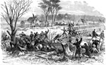 Shiloh Battle: Recapture of Artillery at Pittsburg Landing by the First Ohio Regiment, Under Gen. Rousseau, Monday, April 17, 1862
