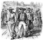 Slavery in America: A slave-coffle passing the capitol