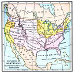 Slavery in America: Expansion of slave soil 1708-1860