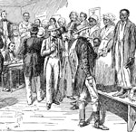 Slavery in America: A slave auction in New Orleans