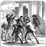 Stamp Act: A Stamp Act Official Beaten by the People