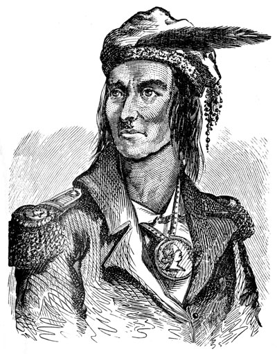 this is Tecumseh, a man who fought against the alteration of his Native AMerican culture.