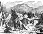 Teepees: Indian Village in Winter