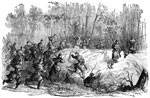 The Battle of Yorktown: Successful Charge of Company H First Massachusetts Regiment on a Confederate Redan before Yorktown