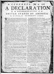The Declaration of Independence: Reduced Facsimile of the Broadside
