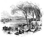 The Mormons: Encampment of Mormons on the Missouri River