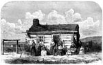 The Mormons: First View of Polygamy - A Mormon and His Family