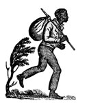 The Underground Railroad: A runaway slave from handbills of the time
