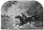 The Underground Railroad: Crossing the river on horseback in the night