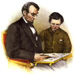 Thomas Lincoln: Abraham Lincoln and his son Tad