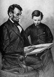 Thomas Lincoln: Lincoln and his son Tad