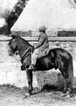 Thomas Lincoln: Little Tad Lincoln astride a horse