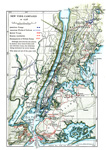 Trenton Battle: General Map of the New York Campaign of 1776