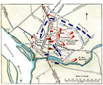 Trenton Battle: Map of Washington's Advance on Trenton