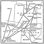 Underground Railroad Maps: Network of routes through Greene, Warren, and Clinton Counties, Ohio