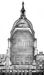 U. S. Capitol Building: Sectional View of the Dome