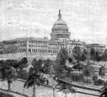 U. S. Capitol Building: Western Facade and Park of the Capitol