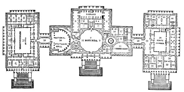 Us Capitol on one story floor plans texas