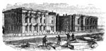 U. S. Capitol: Remains of the Capitol after the Fire in 1814
