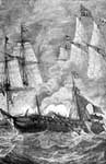 USS Essex: Battle Between the Essex and Two English Ships, March, 1813