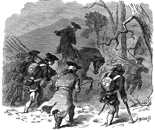 valley forge battle With the onset of the bitter winter cold, the continental army under general george washington, still in the field, enters its winter camp at valley forge, 22 miles from british-occupied philadelphia.
