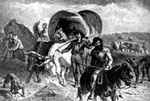 Westward Expansion: Eastern Emigrants on Route for New Settlements in Indiana