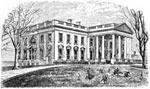 White House Pictures: Exterior of the White House, Circa 1874