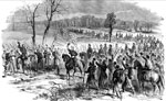 Yorktown Battle: Arrival of McClellan to Take Personal Command of the Army of the Potomac, in its Advance on Yorktown, Virginia, April 5, 1862