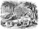 Yorktown Battle: Road Between Yorktown and Williamsburg